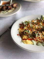 Asian nachos at Tsunami are a perfect appetizer for sharing.