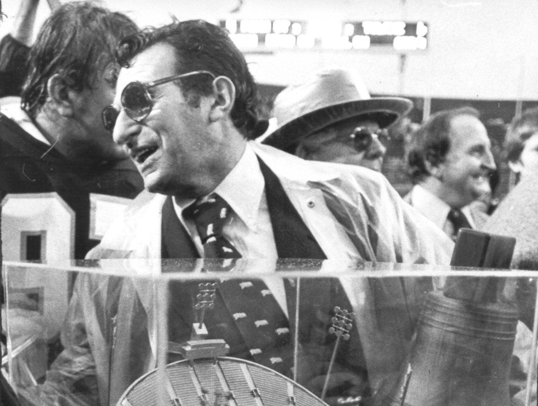 Penn State University head coach Joe Paterno is all smiles after his Nittany Lions defeated Tulane in the Liberty Bowl on Dec. 22, 1979, by a score of 9-6. The winning margin came on a field goal by Herb Menhardt with 18 seconds left in the game.  Dave Darnell / The Commercial Appeal Penn State University head coach Joe Paterno was all smiles after his Nittany Lions defeated Tulane in the Liberty Bowl on 22 Dec 1979 by a score of 9 to 6. The winning margin came on a field goal by PSU kicker Herb Menhardt with 18 seconds left in the game.