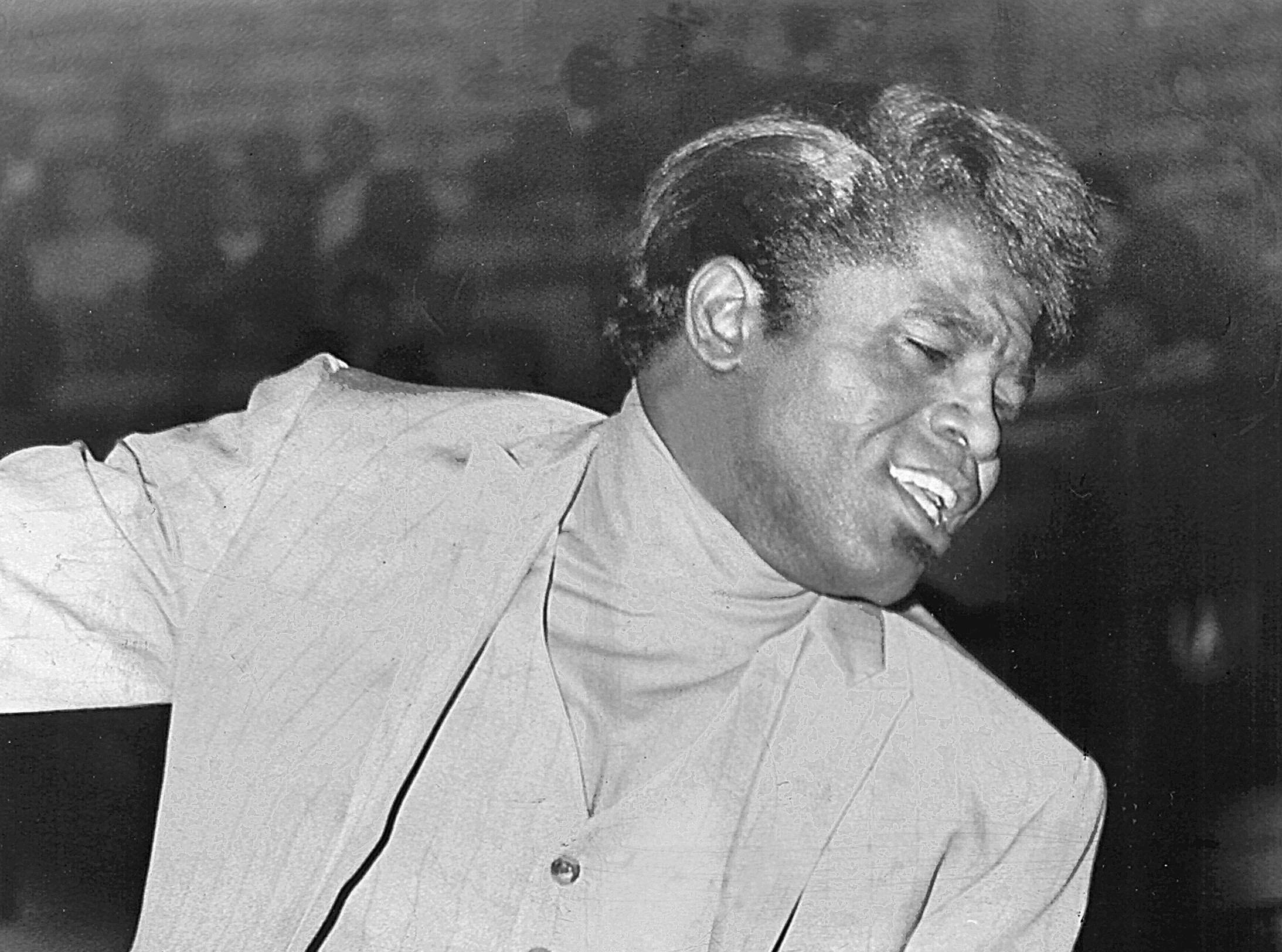James Brown performs before an audience of 11,733 at the Mid-South Coliseum on 24 Aug 1968. The Augusta, Georgia, singer sang his way to the top of the musical heap as Soul Brother No. 1.