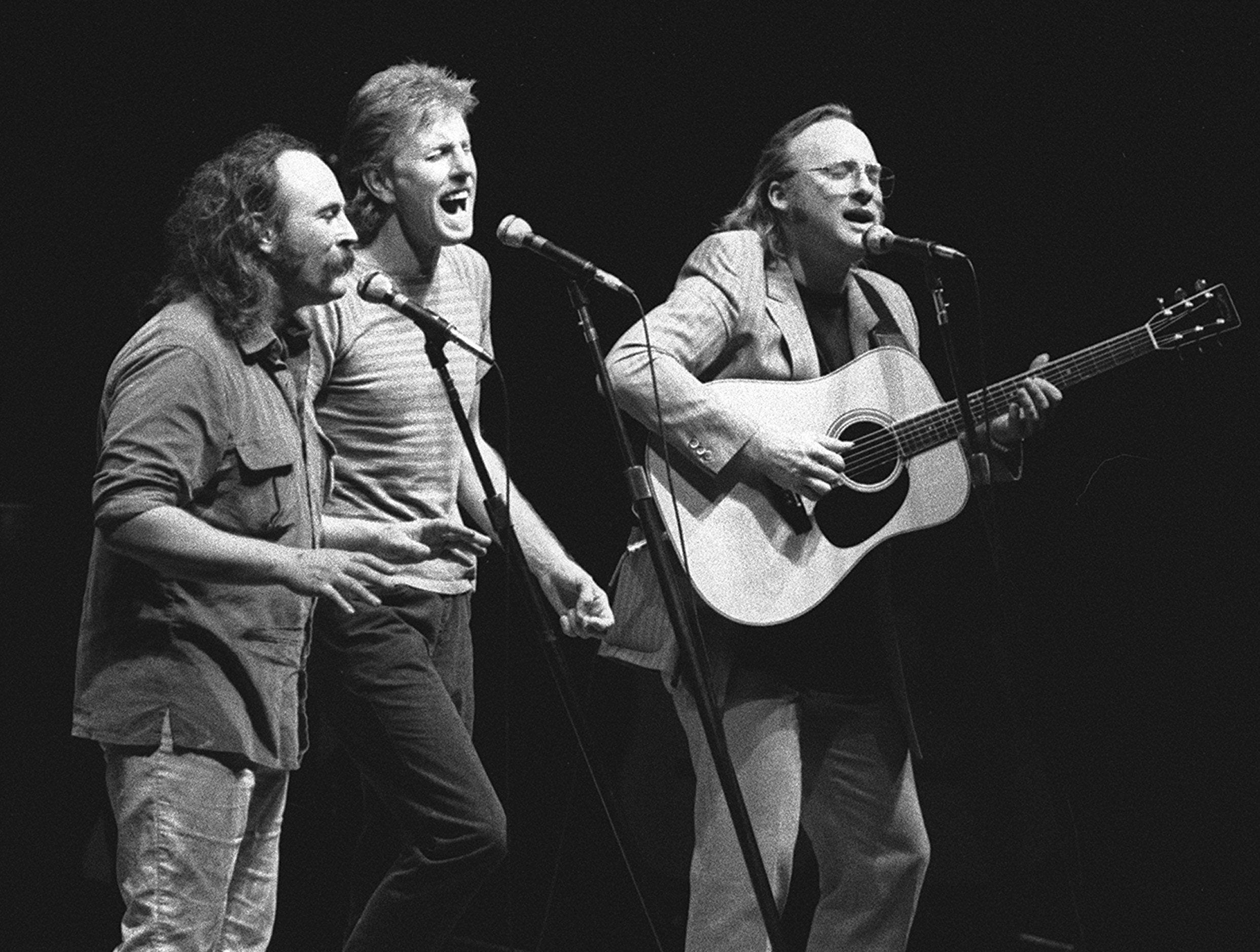 Crosby, Stills and Nash perform before approximately 7,000 people at the Mid-South Coliseum on Oct. 26, 1982.