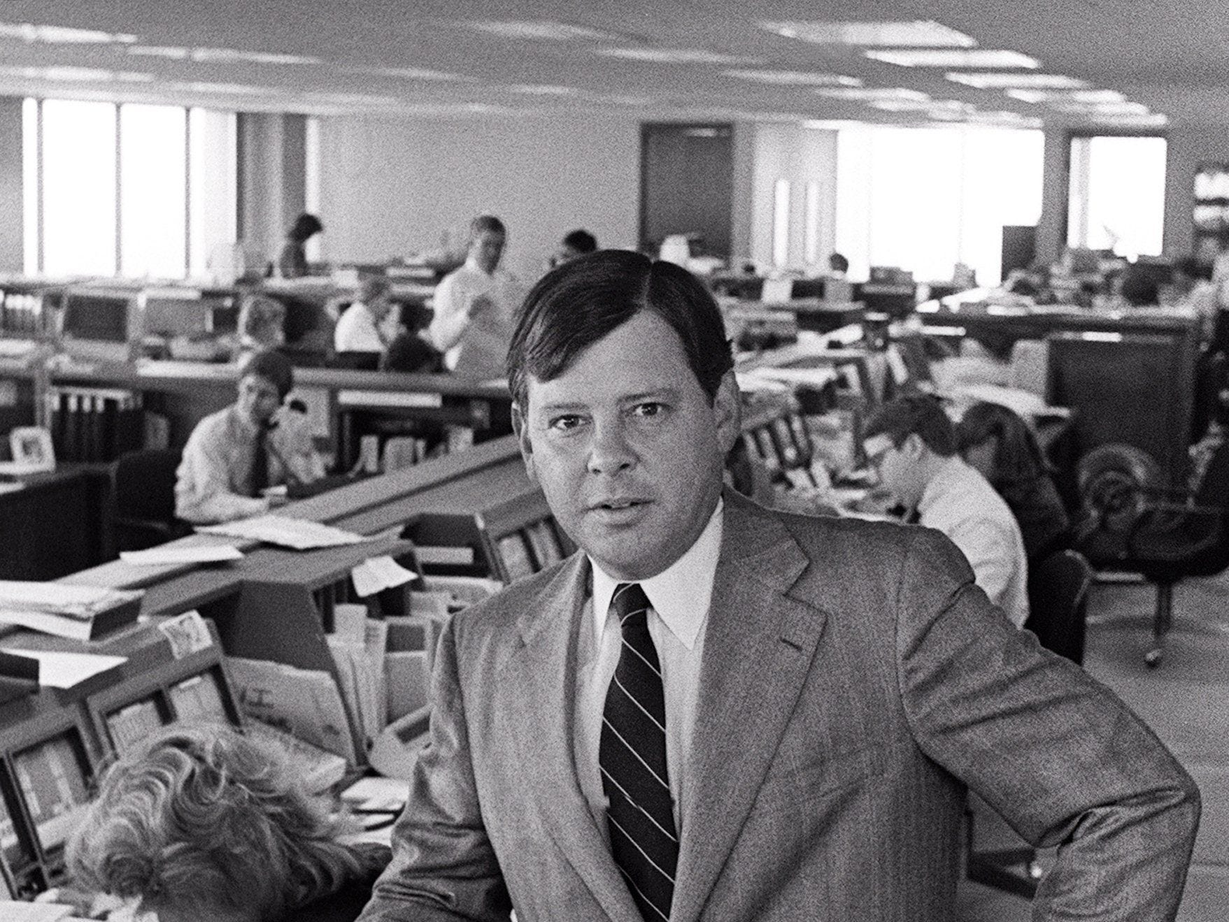 Allen Morgan Jr., shown here on 13 Feb 1984, is chief executive officer of Morgan Keegan & Company, Inc., the investment securities brokerage firm, which he founded in 1969 at the age of 27. In 1970, the company became the first Memphis brokerage firm to buy a seat on the New York Stock Exchange.