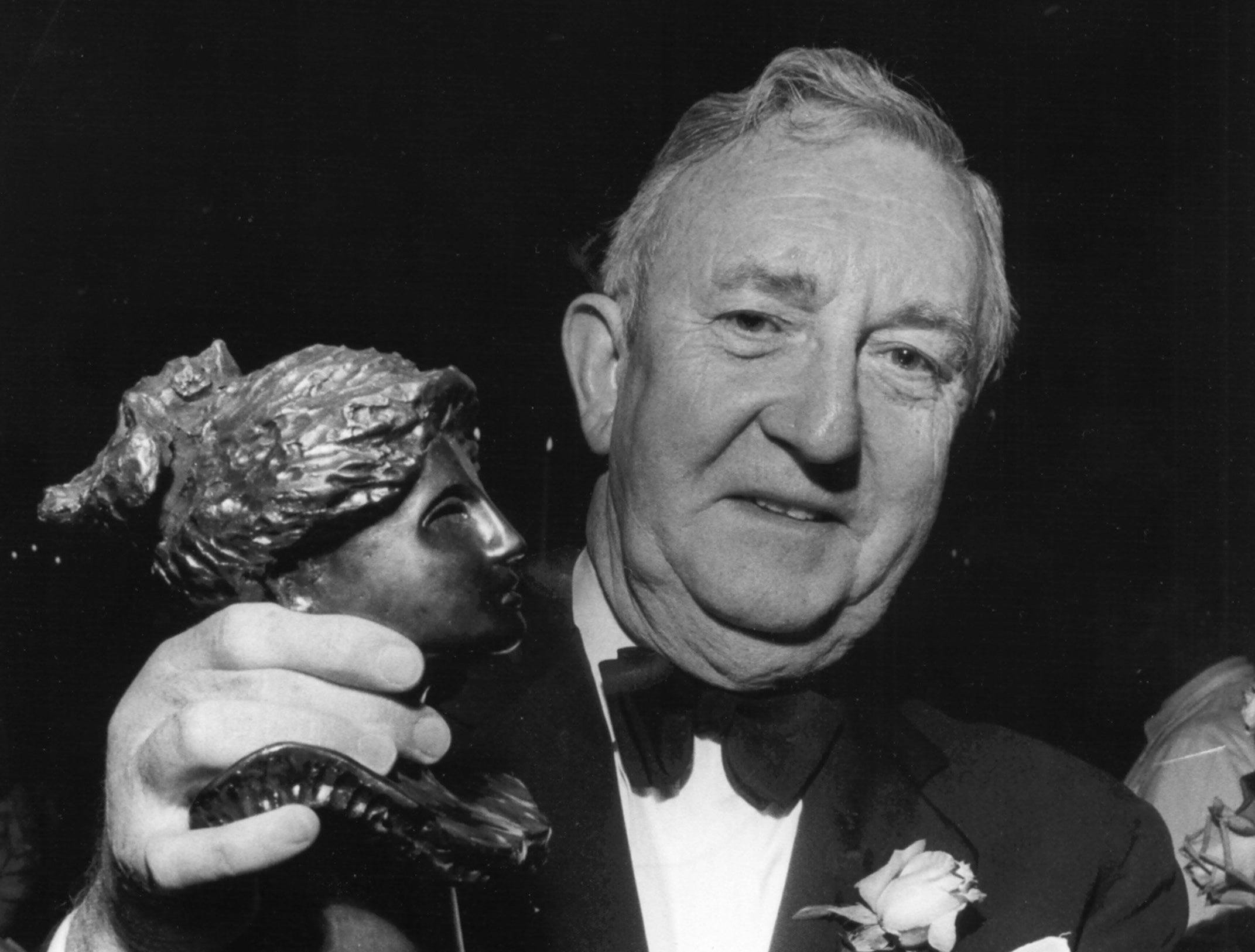 Eric Catmur, president of the Dixon Gallery and Gardens, holds the 1978 Hebe Award at the Memphis Symphony Ball on Oct. 14, 1978. He was presented the award for his efforts on behalf of the arts in Memphis. Catmur, 65, has served as president and treasurer of the Memphis Orchestral Society and has been vice president of the Board of the Memphis Arts Council.