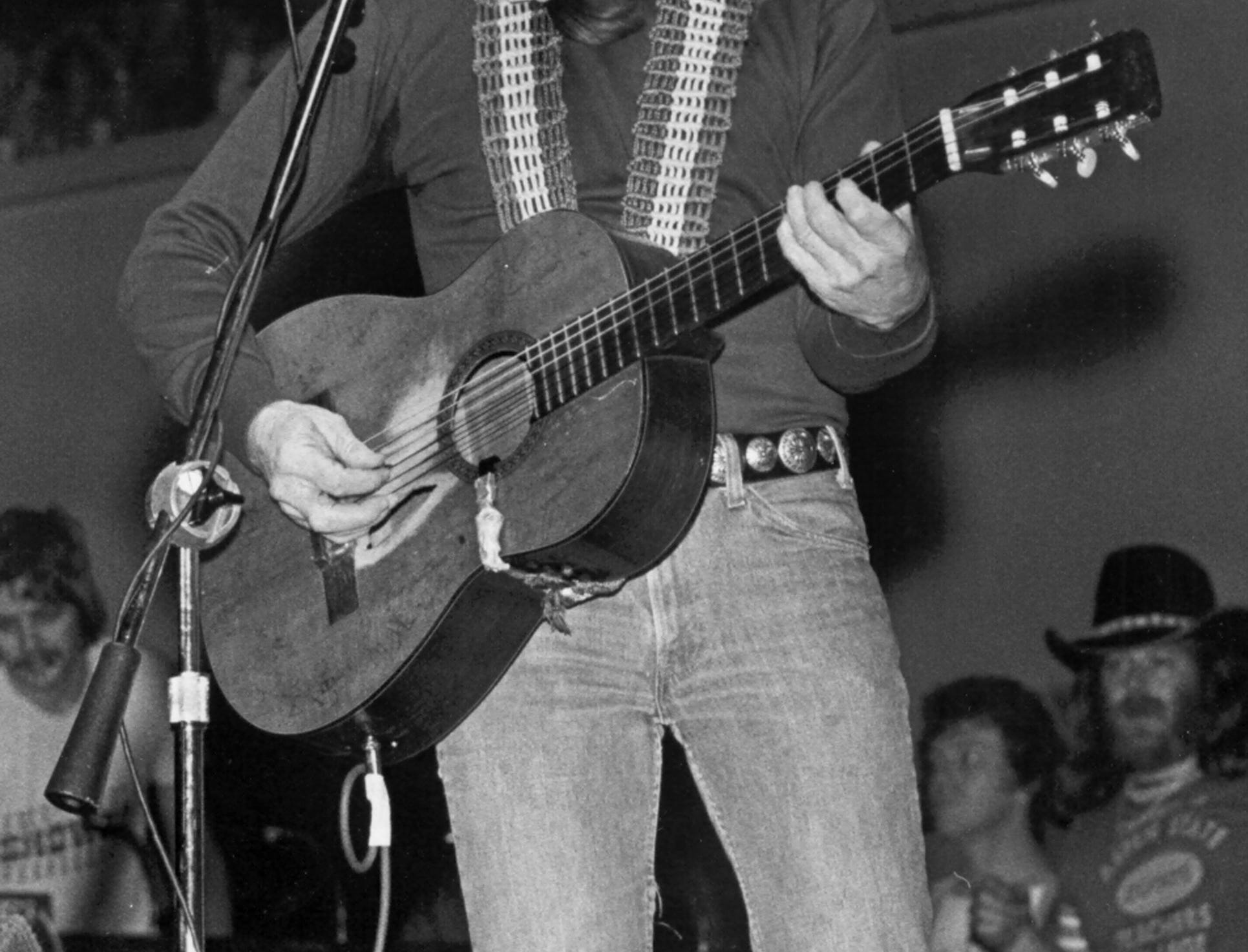 Willie Nelson drew 9,866 fans to the Mid-South Coliseum on Dec. 27, 1978. The concert, sponsored by Mid-South Concerts, was the second stop on a five-city tour by Nelson, the 45-year-old native of Abbott, Texas.