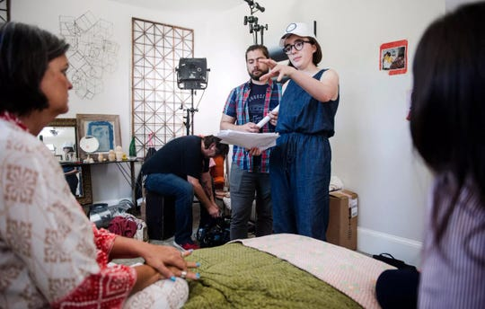 Winner of the Grand Jury Prize at last year's Indie Memphis Youth Film Fest competition screening, Vivian Gray (in cap) this year shot a new short with her prize: a $4,000 in production assistance from local VIA Productions.