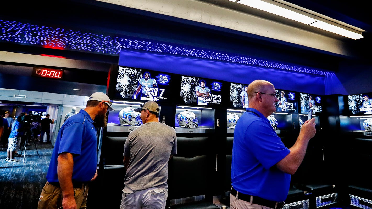 Memphis Football New Locker Room Unveiled At Liberty Bowl