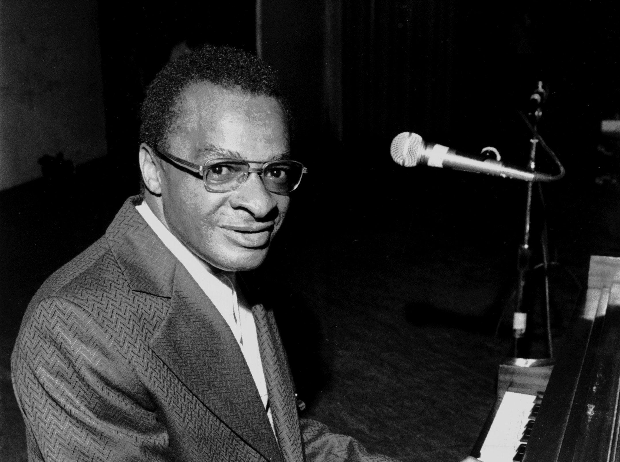 """Phineas Newborn Jr., in photograph dated August 28, 1975. His mother said Count Basie nicknamed him """"Bright Eyes"""" when he was a baby because his eyes lit up when the music started. In the mid-1950s, after earning a reputation in local clubs as the top jazz pianist in Memphis, Newborn took New York by storm. Critic Leonard Feather placed Newborn among the three best jazz pianists of all time. Newborn died in Memphis in 1989 at the age of 58."""