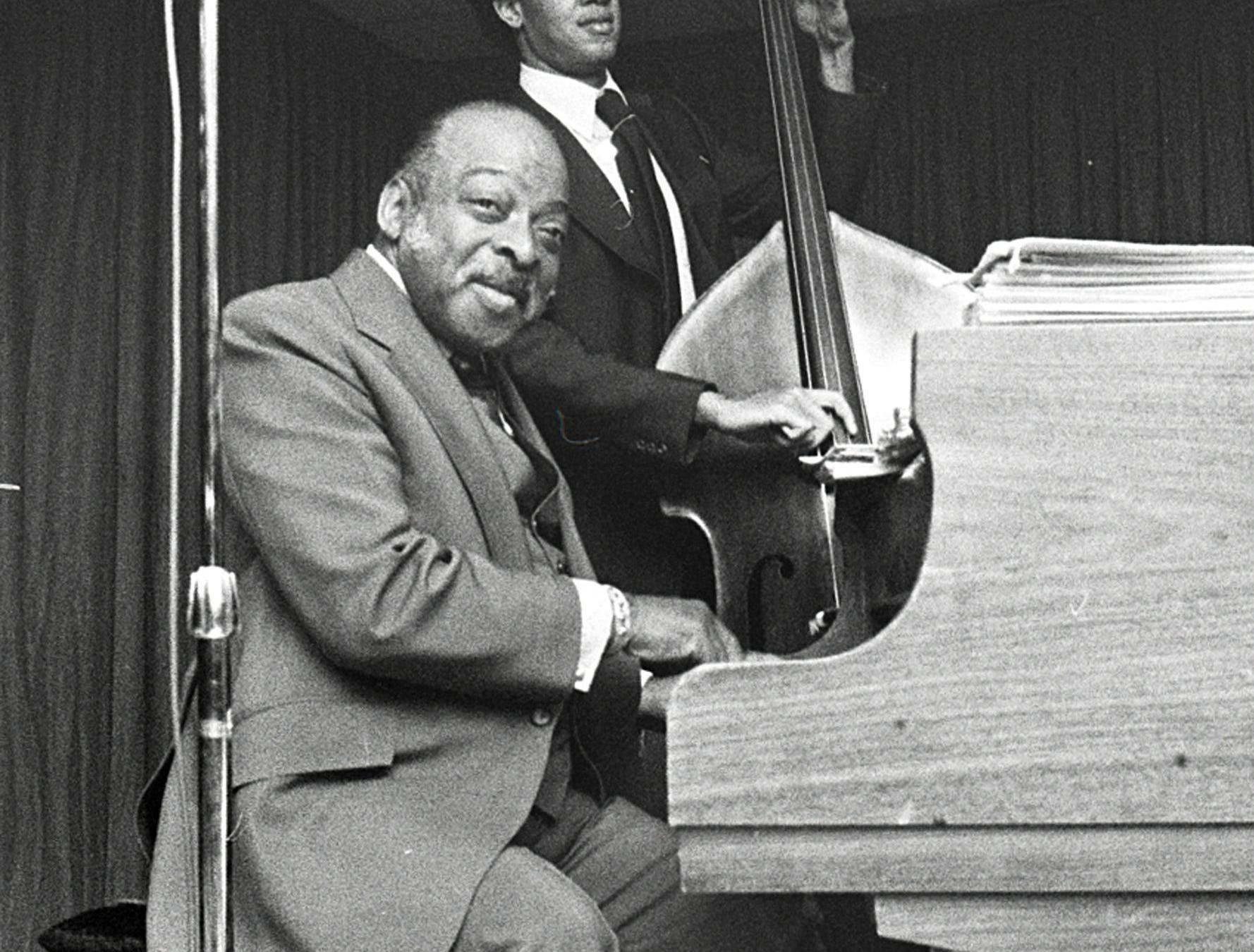 """Count Basie brought his special talents to Memphis on March 30, 1978, and musically lifted the spirits of a Memphis audience as he has done for audiences all over the world for the last 40 years. At the age of 73, he still has that special something that spells """"great"""" and cries for more. He was a tough act to follow for Billy Eckstine, the other half of the two-hour show at the Rainbow Room of the Hilton Inn."""