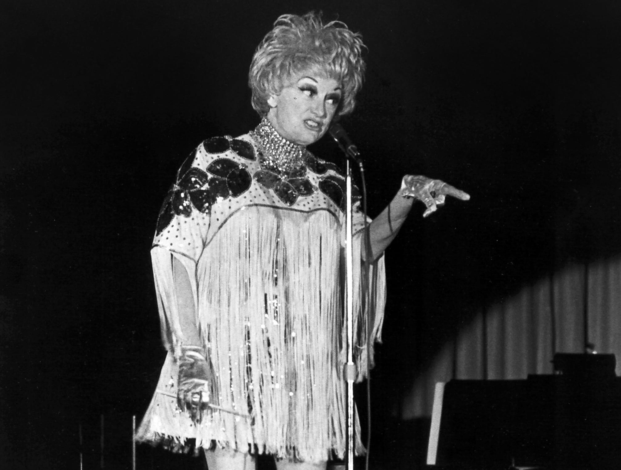 February 22, 1979 - Funny lady Phyllis Diller made a fashion statement as she brought her comedy act to 250 at the Airport Hilton's Rainbow Room on Feb. 22, 1979. She was booked for eight performances over four nights, along with the 60s singing group The Fifth Dimension.