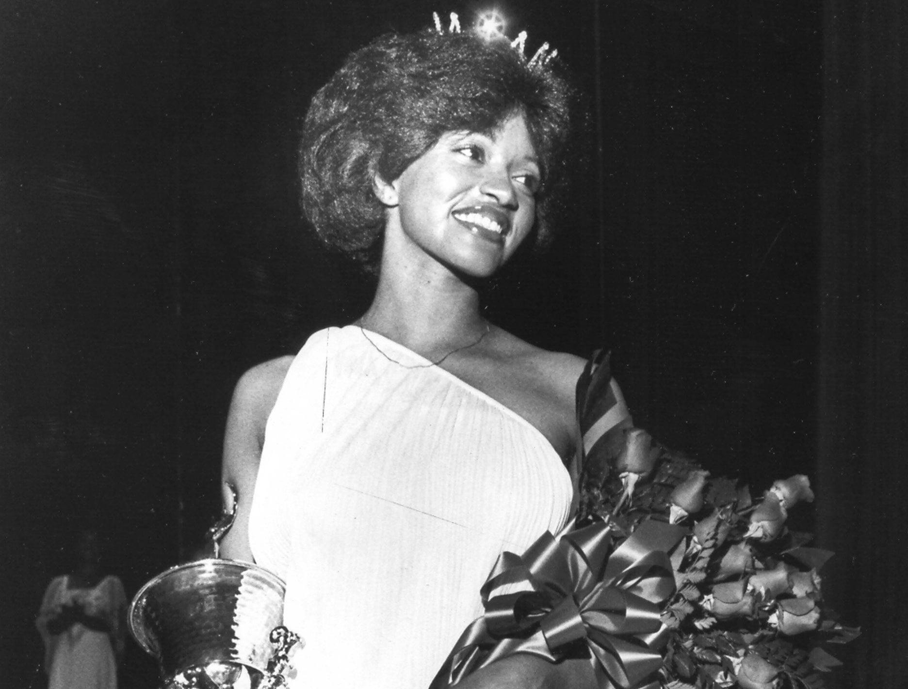 Adriana Hankins is all smiles after being named Miss Black Memphis on 11 May 1979.