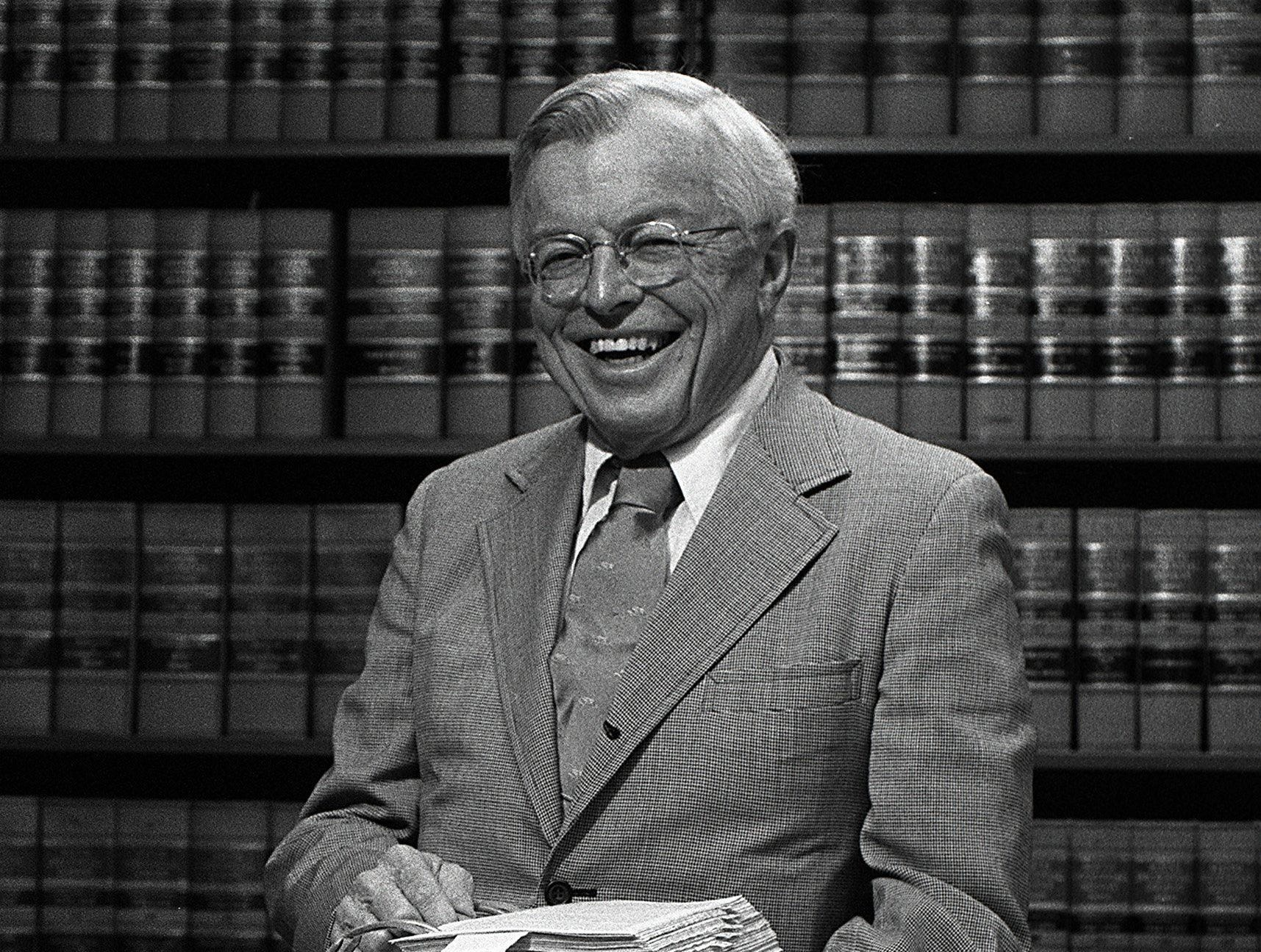 Attorney Lewis Donelson in his law office on 22 May 1984. Donelson was a member of the first Memphis City Council (1968-71) and state commissioner of finance and administration during Gov. Lamar Alexander's first term in office. He has been a member of the Tennessee Higher Education Commission and the Tennessee Technology Foundation.