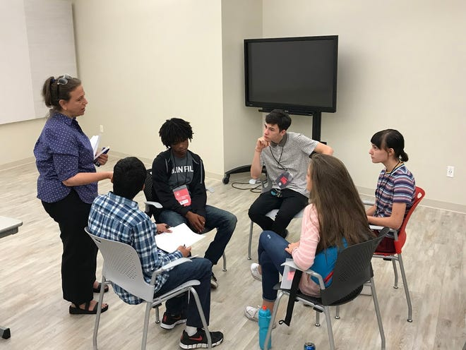 Film professional Nicki Newburger leads a workshop at last year's Indie Memphis Youth Film Fest.