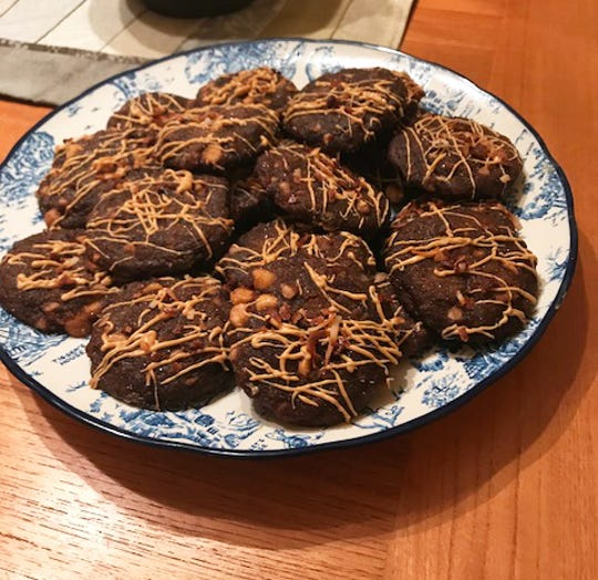 Molasses-Coconut-Butterscotch Cookies feature two kinds of baking chips.