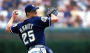 30 Jun 1999: Pitcher Jim Abbott of the Milwaukee Brewers winds back to pitch the ball during the game against the Chicago Cubs at Wrigley Field.