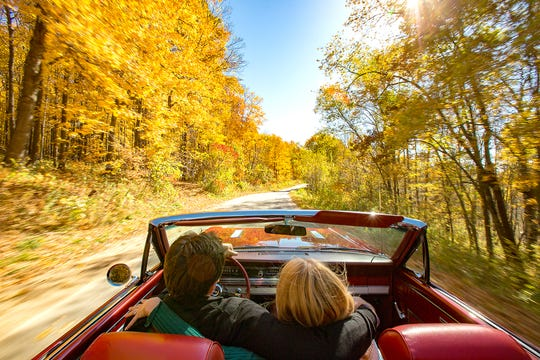 The fall foliage is stunning on one of the many scenic highways and byways throughout Wisconsin.
