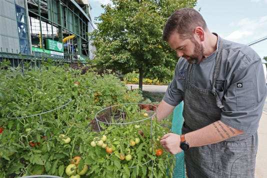 Miller Park garden has helped feed Brewers players and fans