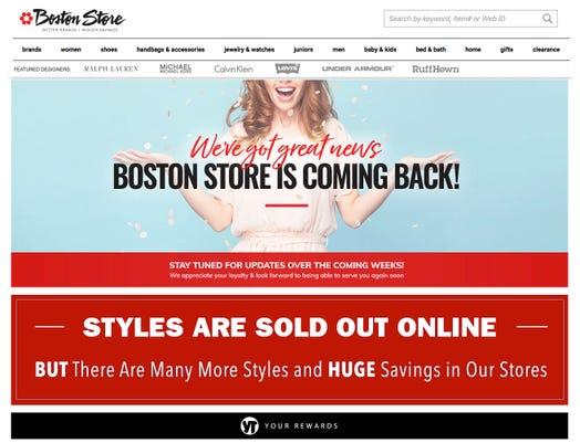 Bostonstore Webpage