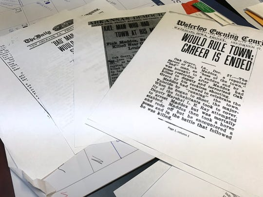 Research compiled by Oak Grove Mayor Adam Holland on a journey to authenticate the death of Benjamin Drake on December 25, 1912.