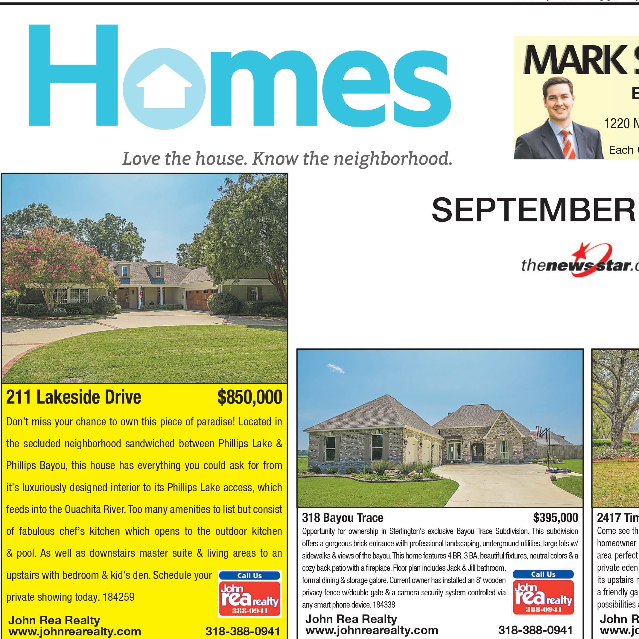 Homefinder: Sept. 2, 2018