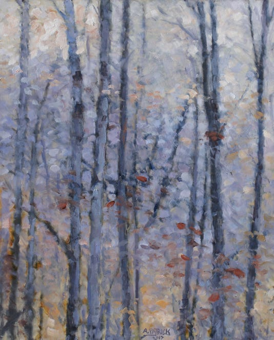 Blue Woods Alan Patrick Oil On Panel 2017