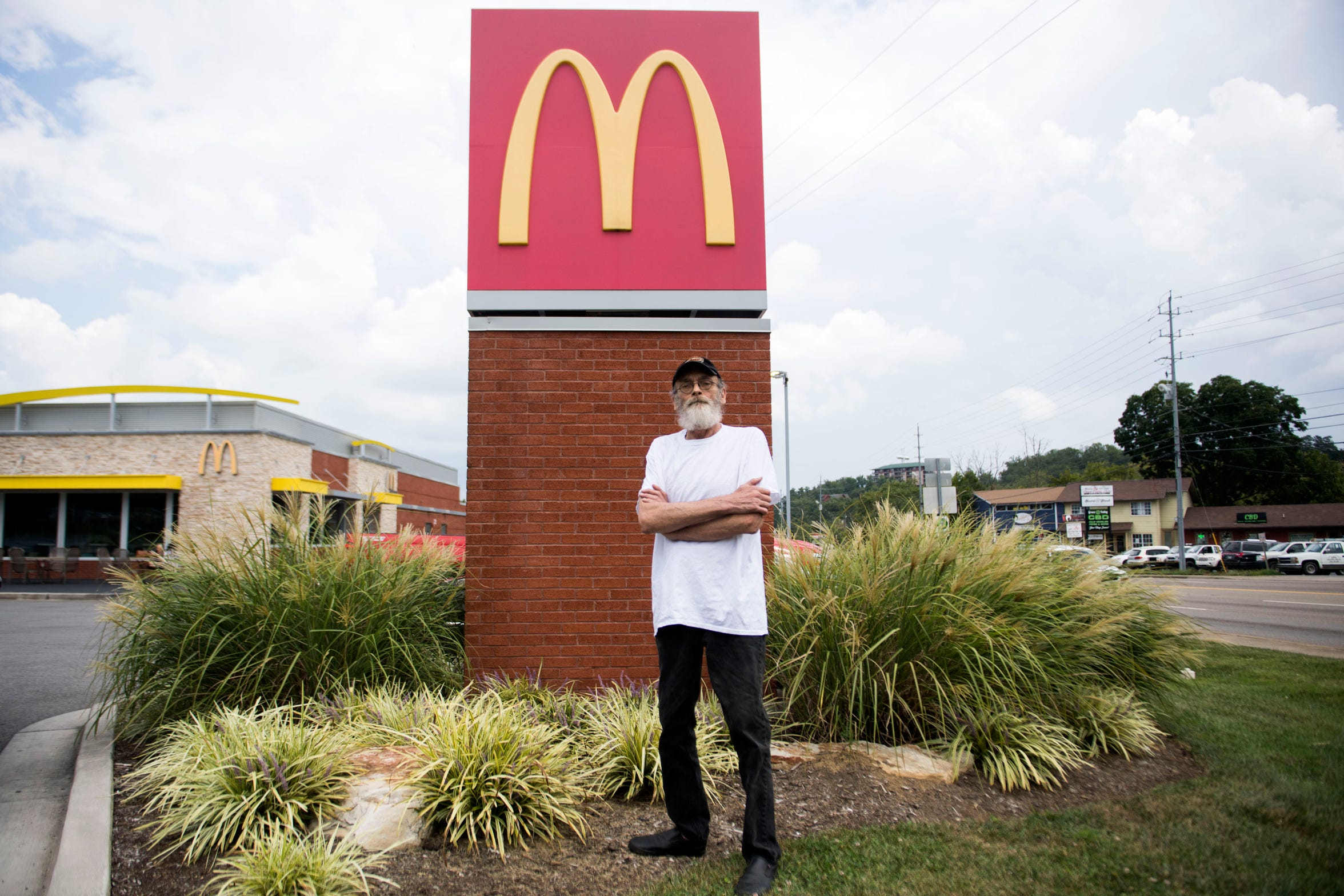 Alan Chrisman worked as a maintenance employee at this Sevierville, Tenn., McDonald's before being diagnosed with stage IV colorectal cancer in November 2017. He's now on his 11th dose of chemotherapy. After his 12th next month, he will return for a scan.