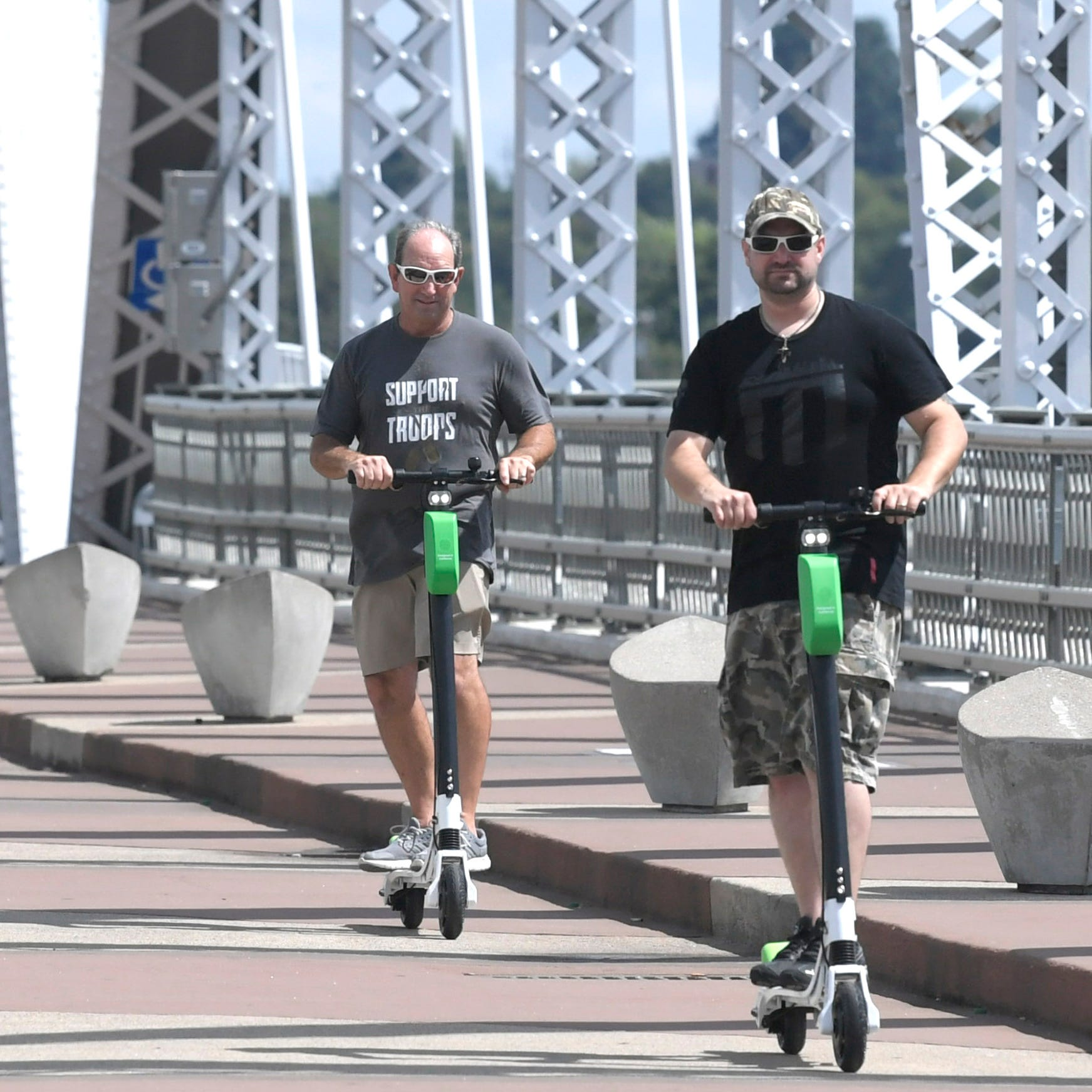 Scooters are spreading in Nashville and they're not going away, but riders have to stop breaking the law | Plazas