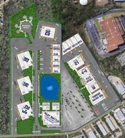 This rendering shows the layout of the TV production studios coming to Hendersonville.