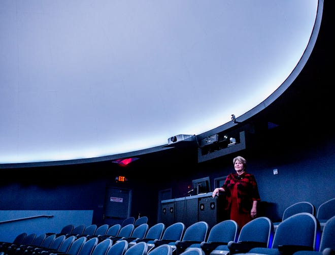 Marcia Downes, Executive Director of the Works, stands for a portrait in the SciDome.