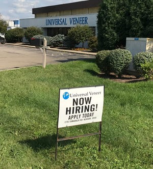 Universal Veneer, on Tamarack Road, is one of many local companies looking for workers.