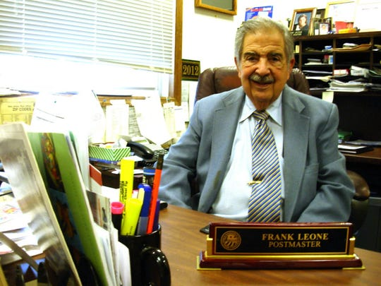 Frank Leone in 2012, the year he retired as Oakland postmaster.