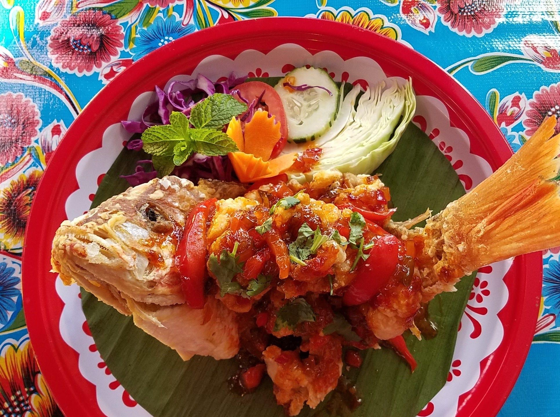 A fish dish at Kai Yang.