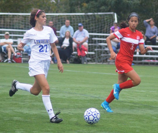 Lyndhurst forward Kaydee Yallo, a Northeastern commit, is a dual-threat on offenseafter scoring 13 goals and 15 assists last year.