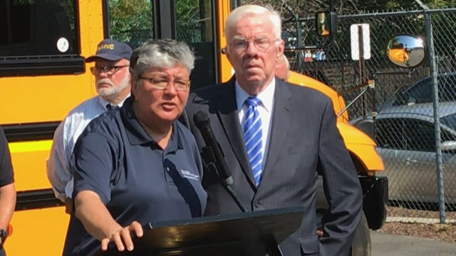 Motor Vehicle Commission Chief Administrator Sue Fulton and Assemblyman Tom Giblin, D-Clifton, emphasize practicality in advancing New Jersey road-safety reforms.