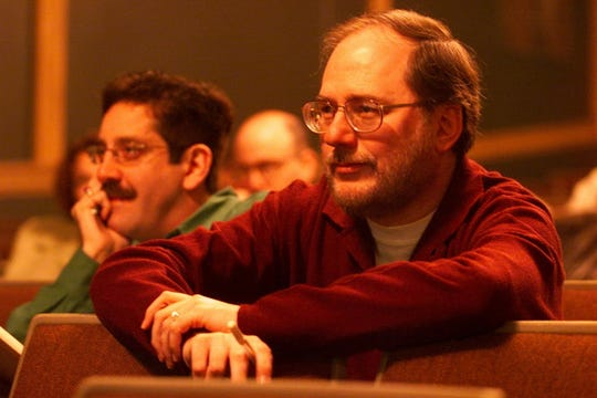 """Rupert Holmes pictured in 2001 at call-back auditions for the play """"Thumbs!"""""""
