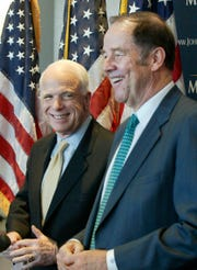 """""""He's certainly a symbol of the best of the past, a time when legislators were independent, when they worked across the aisle, when they were universally patriotic,"""" Kean said of McCain. """"We used to have a lot of those folks in both parties."""""""