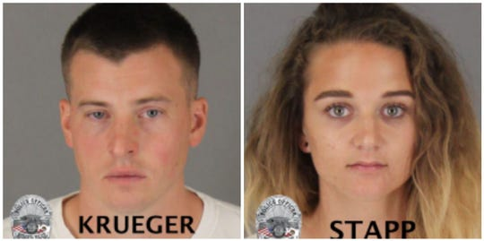 Curtis Krueger (30 years old) and Ashlie Stapp (27 years old) in 29 Palms, CA in connection with the death of Mr. Stange.