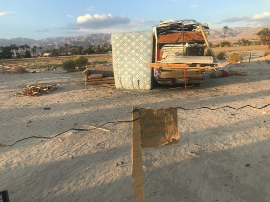 A stop during the Coachella Valley Rescue Mission's 90 Days of Summer outreach work. The resident living out of his car, not far from the rescue mission, said all he needed was a car battery to get back on his feet.