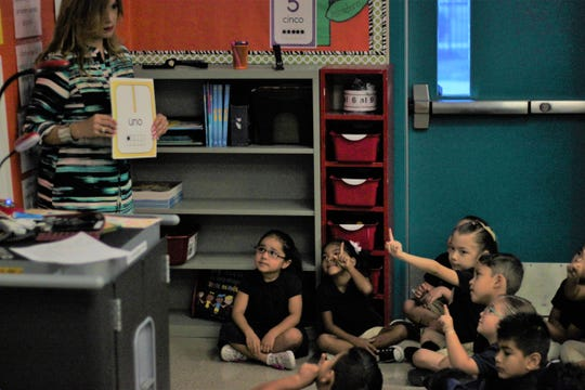 Noemi Arellano teaches in a dual immersion class at Coral Mountain Academy in Coachella.