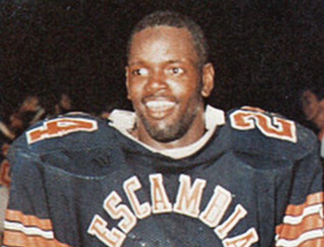 NFL Hall of Famer Emmitt Smith during his days at Escambia High.