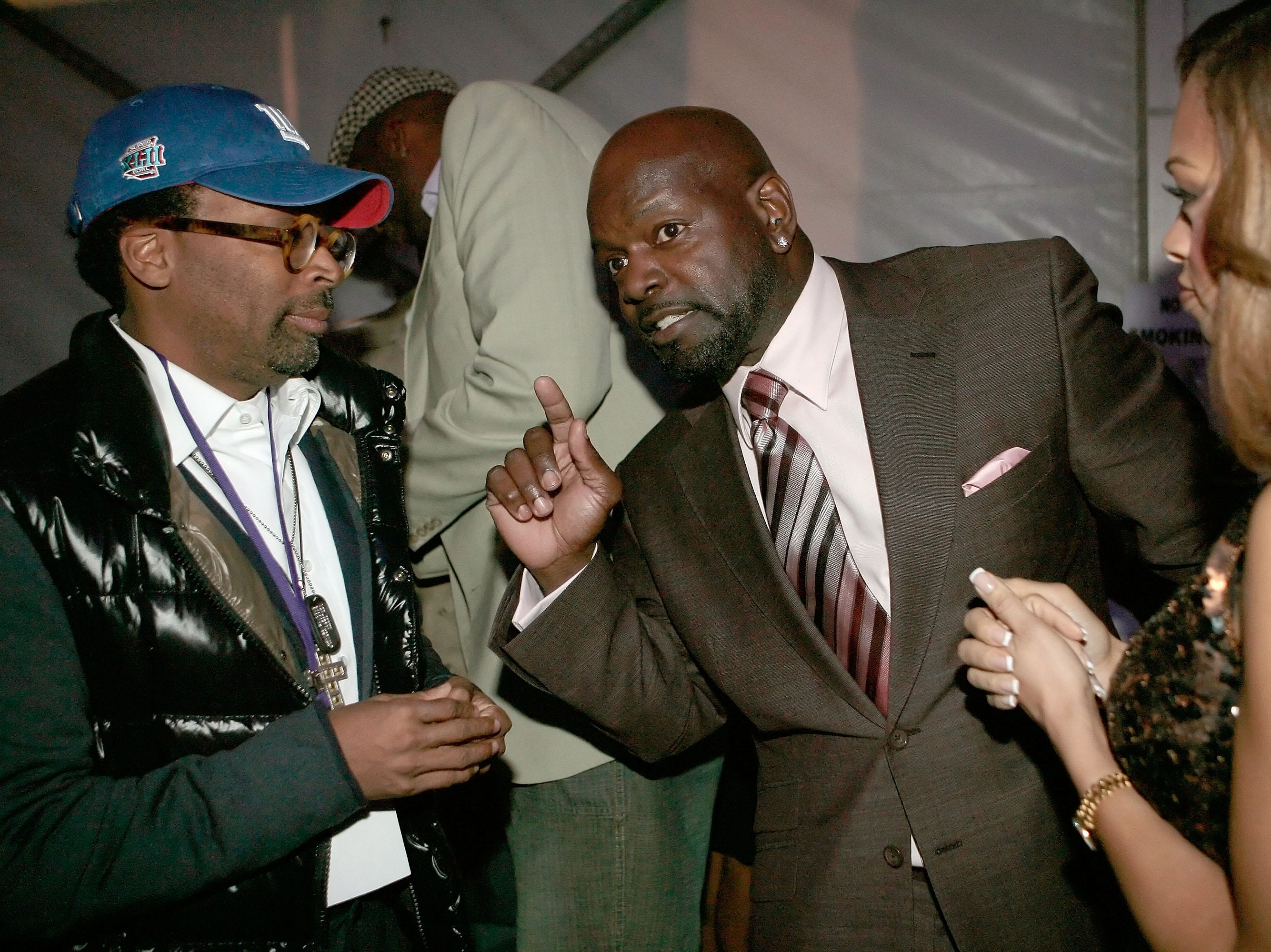 PHOENIX - FEBRUARY 02:  (L-R) Director Spike Lee, Patricia Southall and Emmitt Smith attend the Chris ock Live in Concert performance benefiting the HollyRod Foundation held at Prive Lounge on February 2, 2008 in Phoenix, Arizona.  (Photo by Charley Gallay/Getty Images for HollyRod Foundation)