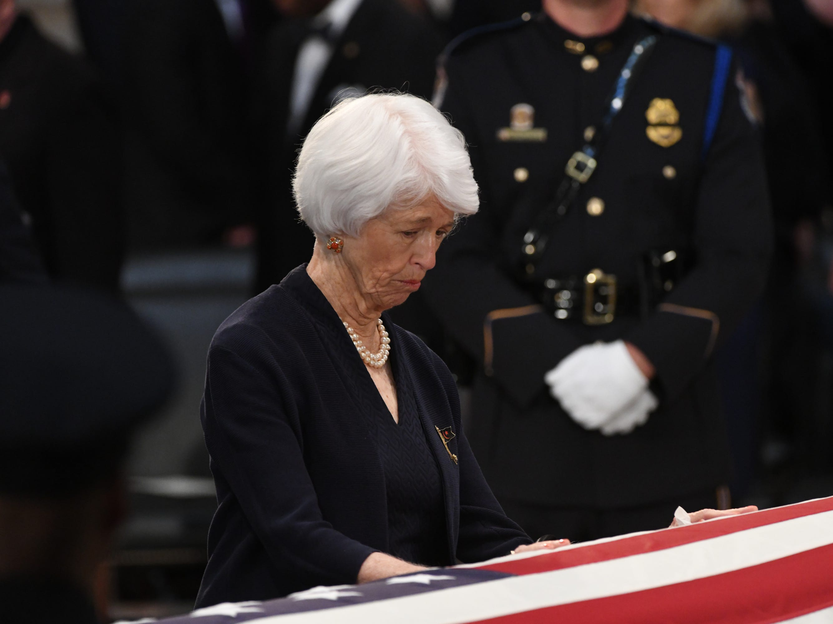 8/31/18 11:27:56 AM -- Washington, DC, U.S.A  -- The body of John McCain lies in state at the U.S. Capitol in Washington on Aug. 31, 2018 in Washington. Sen. McCain died on Aug. 25. --    Photo by Jasper Colt, USA TODAY Staff