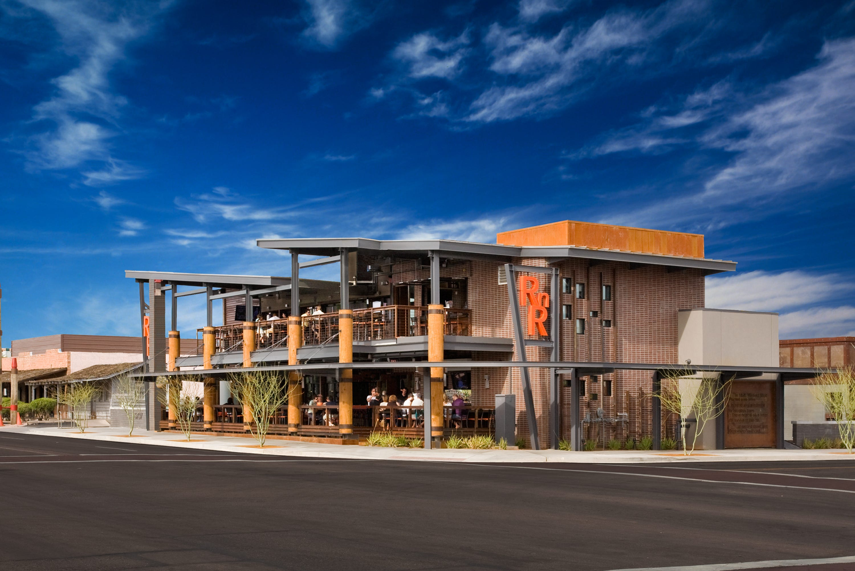 Exterior rendering of R&R Restaurant in Scottsdale.