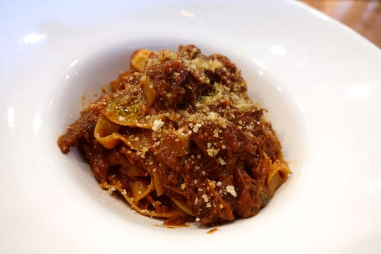 Mesquite flour pappardelle with cuore di manzo ragu at Virtu Honest Craft in Phoenix.