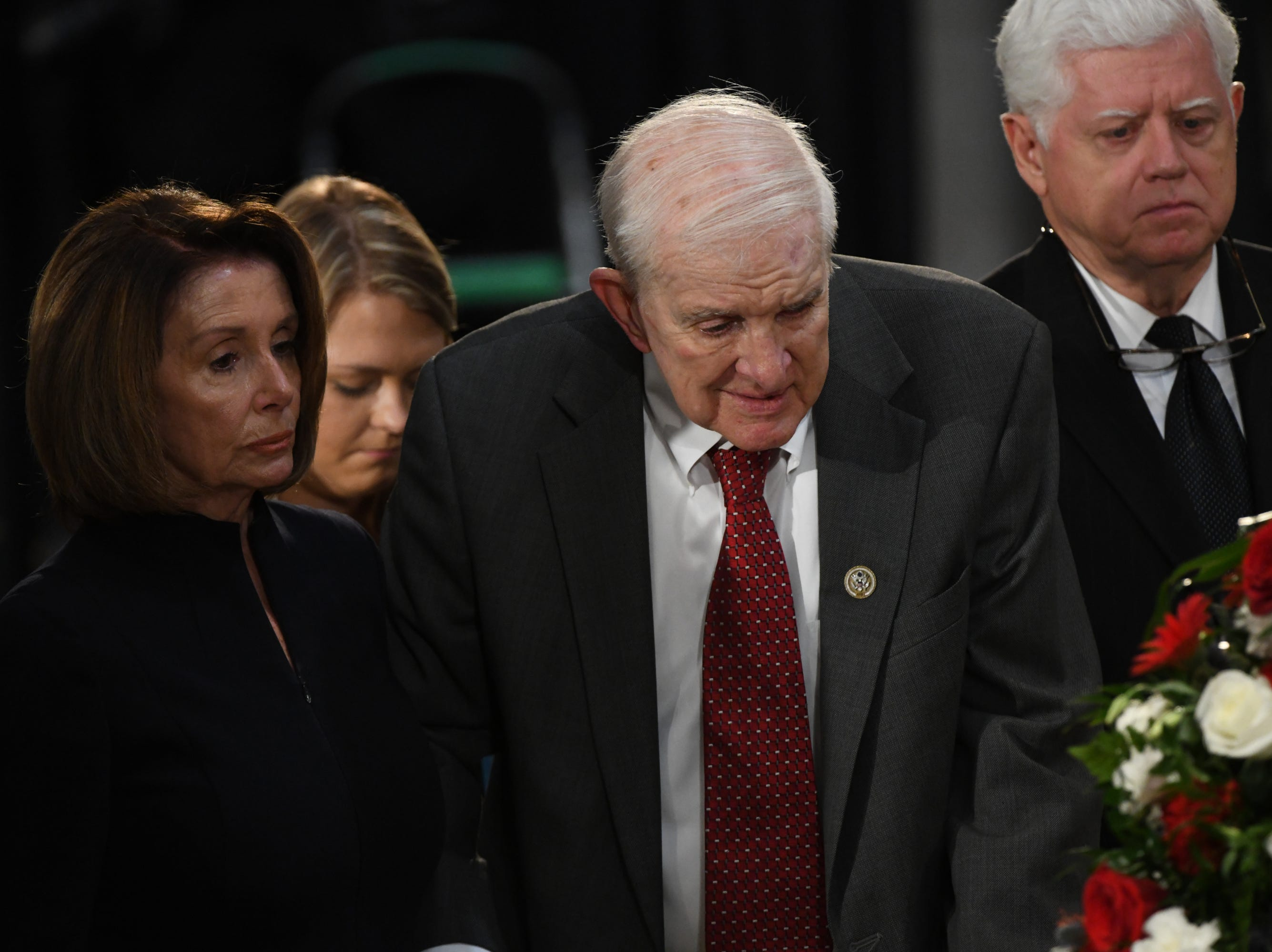 8/31/18 11:44:48 AM -- Washington, DC, U.S.A  -- The body of John McCain lies in state at the U.S. Capitol in Washington on Aug. 31, 2018 in Washington. Sen. McCain died on Aug. 25. --    Photo by Jasper Colt, USA TODAY Staff