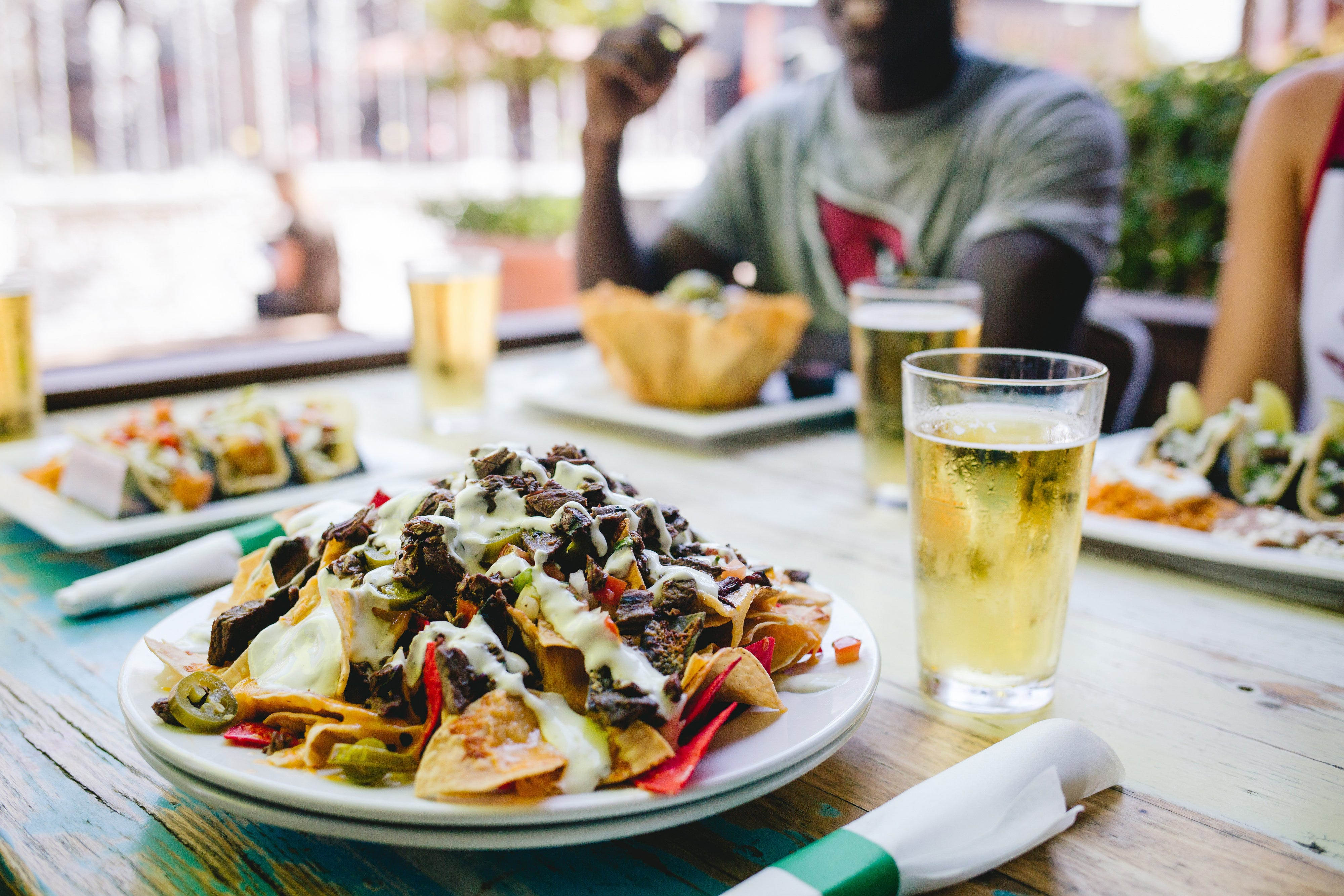Nachos, Salt Tacos y Tequila