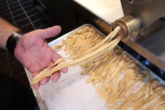 Gio Osso makes mesquite flour pappardelle at Virtu Honest Craft in Scottsdale.