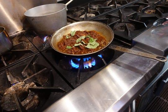 Gio Osso cooks cuore di manzo ragu at Virtu Honest Craft in Scottsdale.