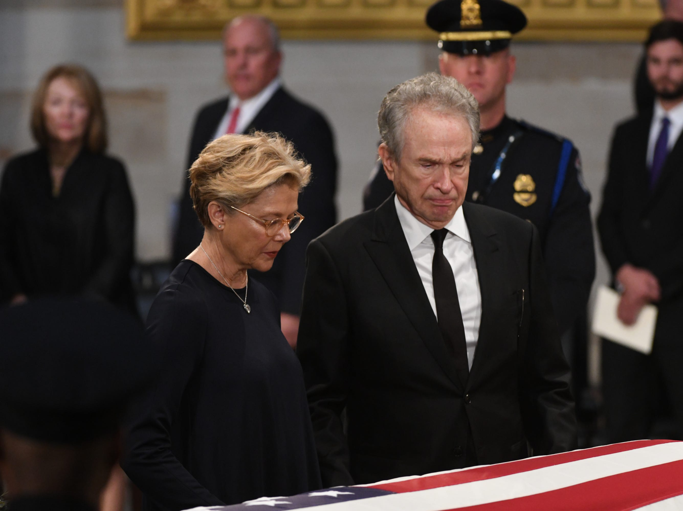 8/31/18 11:33:18 AM -- Washington, DC, U.S.A  -- The body of John McCain lies in state at the U.S. Capitol in Washington on Aug. 31, 2018 in Washington. Sen. McCain died on Aug. 25. --    Photo by Jasper Colt, USA TODAY Staff