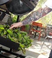 The Hatch chile asado en Chelsea's Kitchen.