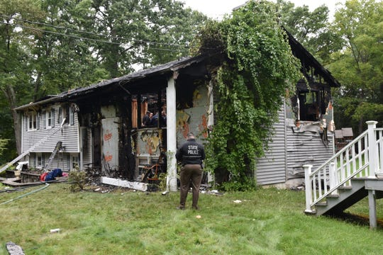 The results of a house fire on Relyea Terrace in the Town of Wappinger.