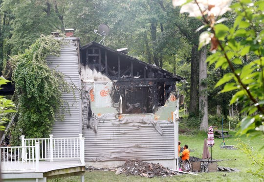 The scene of a fatal home fire on Relyea Terrace in Wappinger on Friday.